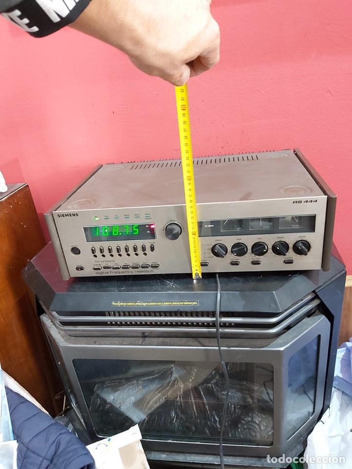 Radios antiguas: AMPLIFICADOR-SINTONIZADOR SIEMENS RS 555 ....MUY RARO . Funciona. Ver el peso y las medidas en fotos - Foto 2 - 219917508