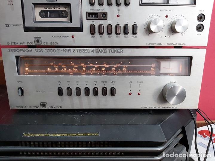 Radios antiguas: amplificador platina cassette europhon rck 2000. Ver las imágenes - Foto 2 - 221333233