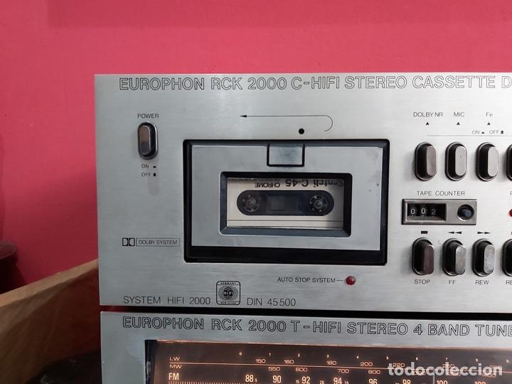 Radios antiguas: amplificador platina cassette europhon rck 2000. Ver las imágenes - Foto 3 - 221333233