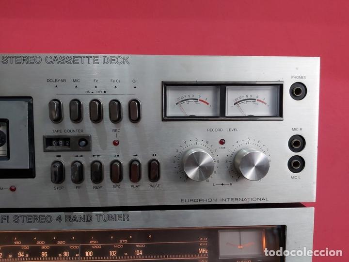 Radios antiguas: amplificador platina cassette europhon rck 2000. Ver las imágenes - Foto 4 - 221333233