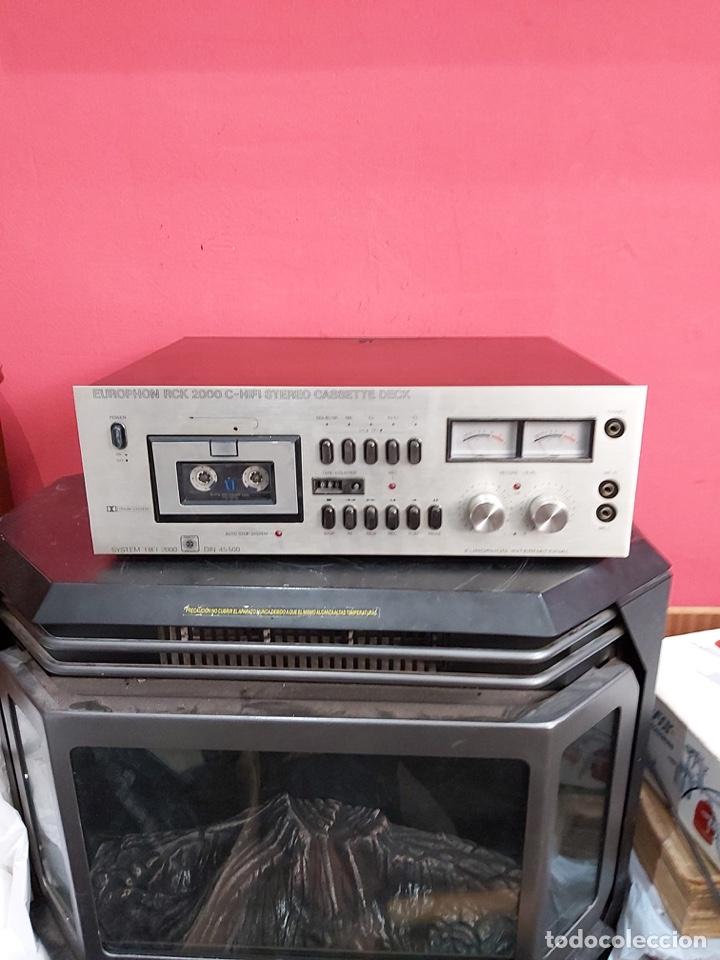 Radios antiguas: amplificador platina cassette europhon rck 2000. Ver las imágenes - Foto 11 - 221333233