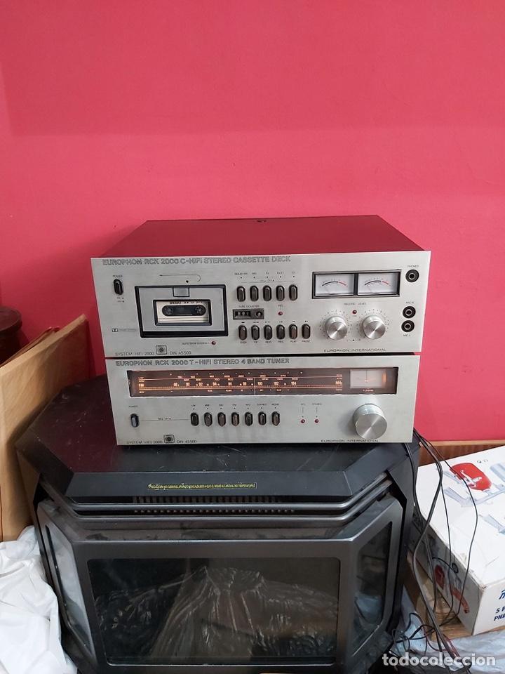 AMPLIFICADOR PLATINA CASSETTE EUROPHON RCK 2000. VER LAS IMÁGENES (Radios, Gramófonos, Grabadoras y Otros - Amplificadores y Micrófonos de Válvulas)