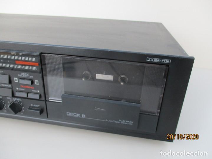 Radios antiguas: Yamaha doble pletina modelo: KXV-202 necesita gomas nuevas y limpieza de zona de poleas - Foto 3 - 221687976