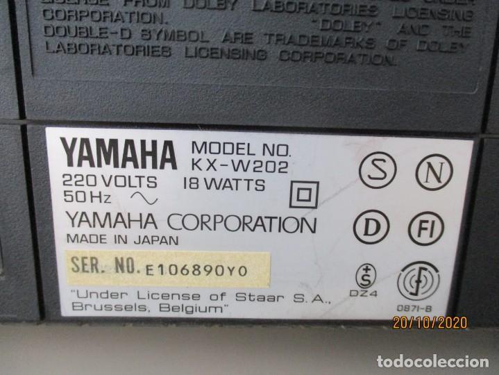 Radios antiguas: Yamaha doble pletina modelo: KXV-202 necesita gomas nuevas y limpieza de zona de poleas - Foto 5 - 221687976