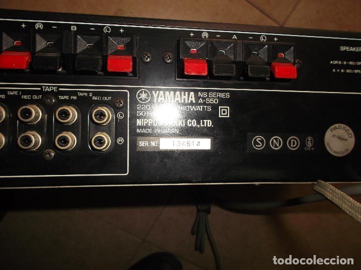 Radios antiguas: YAMAHA, AMPLIFICADOR, A 550, FUNCIONANDO, EXCELENTE, APARATO - Foto 2 - 221897656