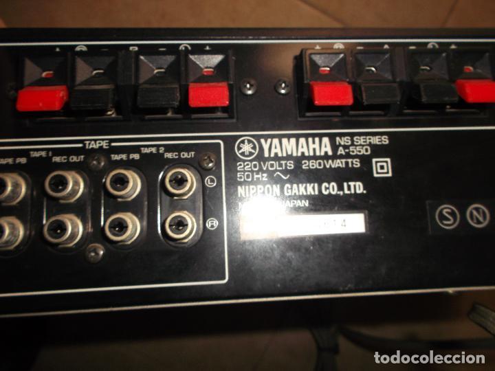 Radios antiguas: YAMAHA, AMPLIFICADOR, A 550, FUNCIONANDO, EXCELENTE, APARATO - Foto 3 - 221897656