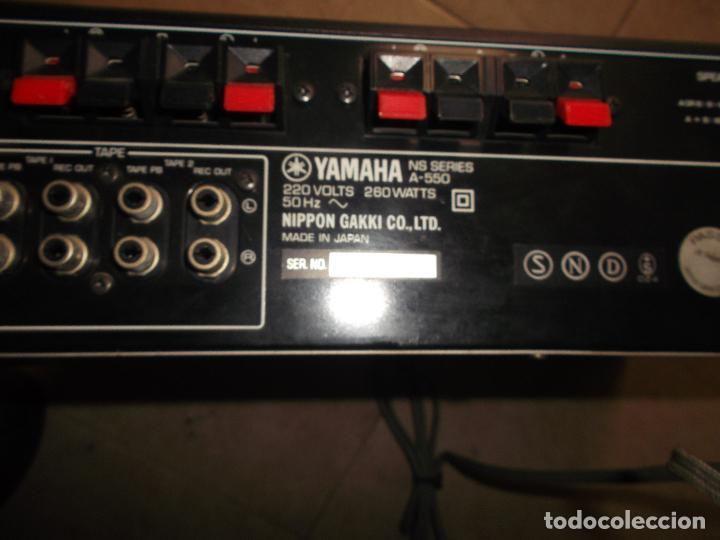 Radios antiguas: YAMAHA, AMPLIFICADOR, A 550, FUNCIONANDO, EXCELENTE, APARATO - Foto 4 - 221897656