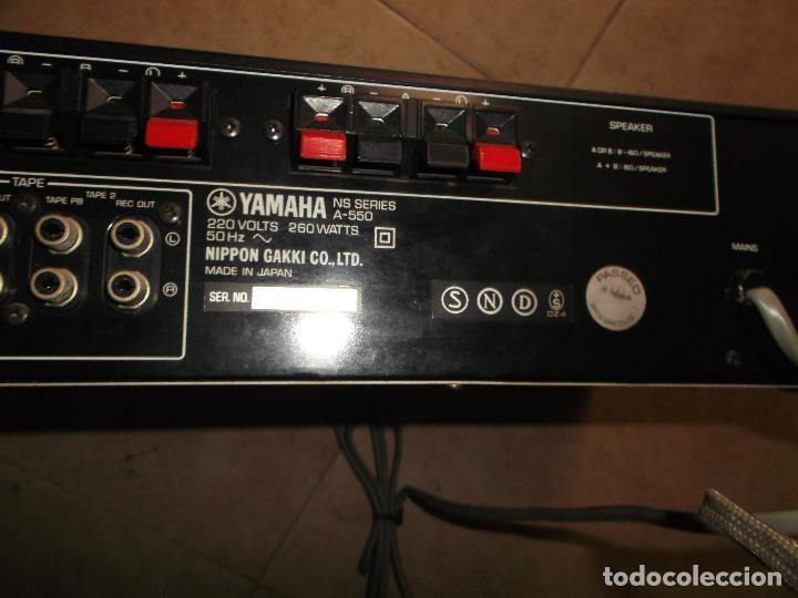Radios antiguas: YAMAHA, AMPLIFICADOR, A 550, FUNCIONANDO, EXCELENTE, APARATO - Foto 6 - 221897656