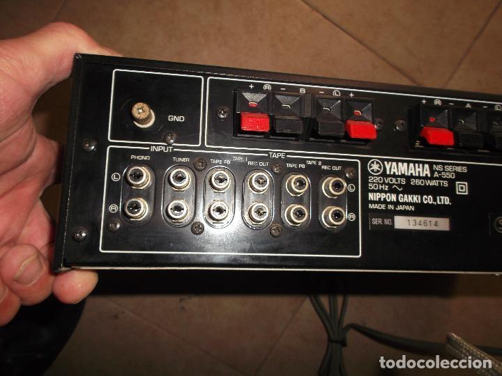 Radios antiguas: YAMAHA, AMPLIFICADOR, A 550, FUNCIONANDO, EXCELENTE, APARATO - Foto 7 - 221897656