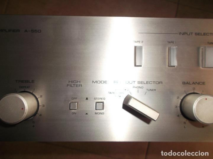 Radios antiguas: YAMAHA, AMPLIFICADOR, A 550, FUNCIONANDO, EXCELENTE, APARATO - Foto 13 - 221897656