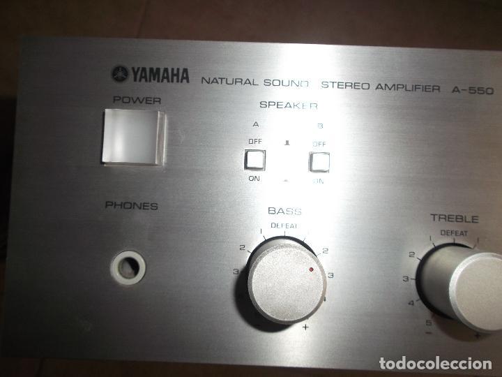 Radios antiguas: YAMAHA, AMPLIFICADOR, A 550, FUNCIONANDO, EXCELENTE, APARATO - Foto 14 - 221897656