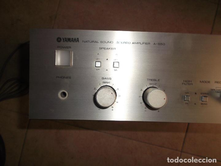 Radios antiguas: YAMAHA, AMPLIFICADOR, A 550, FUNCIONANDO, EXCELENTE, APARATO - Foto 17 - 221897656