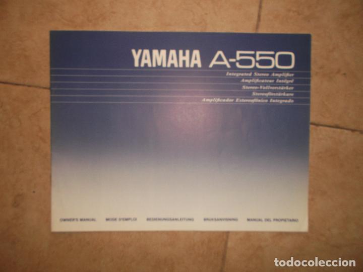 Radios antiguas: YAMAHA, AMPLIFICADOR, A 550, FUNCIONANDO, EXCELENTE, APARATO - Foto 19 - 221897656
