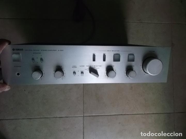 YAMAHA, AMPLIFICADOR, A 550, FUNCIONANDO, EXCELENTE, APARATO (Radios, Gramófonos, Grabadoras y Otros - Amplificadores y Micrófonos de Válvulas)