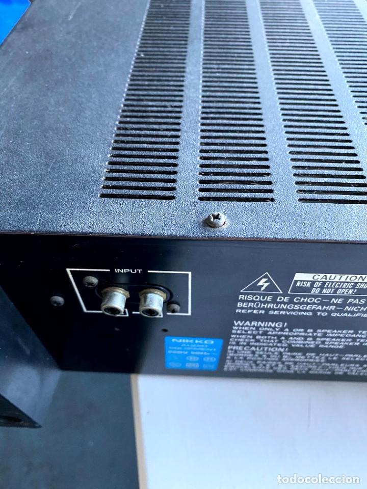Radios antiguas: Nikko Alfa 130 Amplificador (Japón) - Foto 5 - 224449336