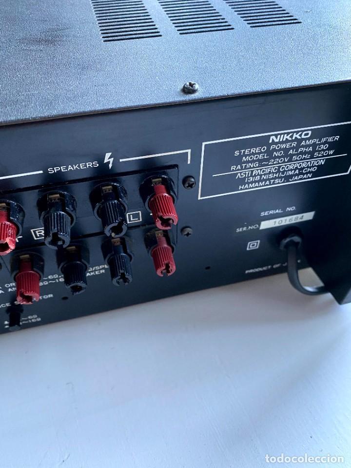 Radios antiguas: Nikko Alfa 130 Amplificador (Japón) - Foto 7 - 224449336