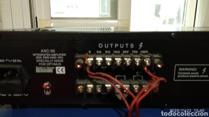 AMPLIFICADOR OPTIMUS AXC-30 (Radios, Gramófonos, Grabadoras y Otros - Amplificadores y Micrófonos de Válvulas)