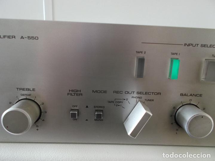 Radios antiguas: YAMAHA, AMPLIFICADOR, A 550, FUNCIONANDO, EXCELENTE, APARATO - Foto 20 - 221897656