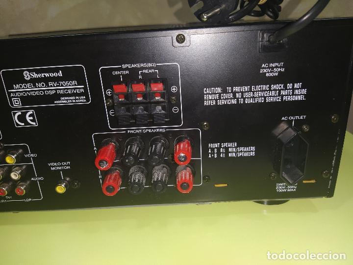 Radios antiguas: AMPLIFICADOR SHERWOOD RV-7050R, AMPLIFICADOR, EXCELENTE - Foto 6 - 230079340
