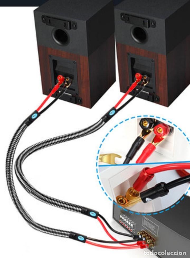 Radios antiguas: altavoces- altavoz - amplificador / Cable hi-fi high end con conector Banana a pala 1,5M - Foto 2 - 233506160