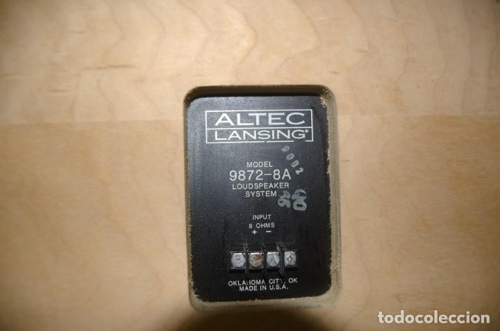 Radios antiguas: ALTEC LANSING Model 9872-8A Speaker (Solo una unidad) - Foto 8 - 234924165
