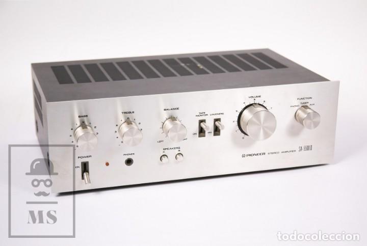 AMPLIFICADOR PIONEER STEREO AMPLIFIER SA-5500 II - FRONTAL ALUMINIO - MEDIDAS 38 X 26 X 12,5 CM (Radios, Gramófonos, Grabadoras y Otros - Amplificadores y Micrófonos de Válvulas)