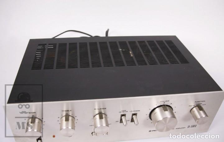 Radios antiguas: Amplificador Pioneer Stereo Amplifier SA-5500 II - Frontal Aluminio - Medidas 38 x 26 x 12,5 cm - Foto 2 - 235635905