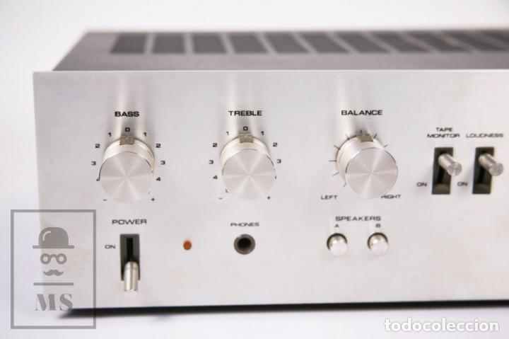 Radios antiguas: Amplificador Pioneer Stereo Amplifier SA-5500 II - Frontal Aluminio - Medidas 38 x 26 x 12,5 cm - Foto 3 - 235635905