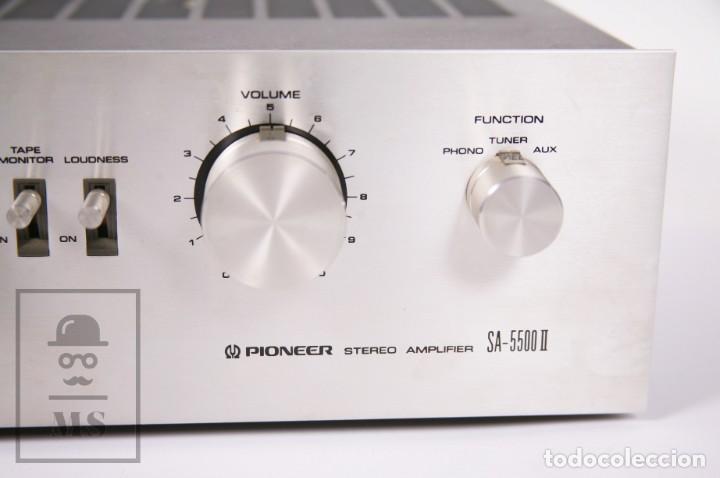 Radios antiguas: Amplificador Pioneer Stereo Amplifier SA-5500 II - Frontal Aluminio - Medidas 38 x 26 x 12,5 cm - Foto 4 - 235635905