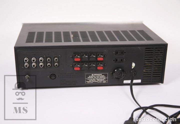 Radios antiguas: Amplificador Pioneer Stereo Amplifier SA-5500 II - Frontal Aluminio - Medidas 38 x 26 x 12,5 cm - Foto 8 - 235635905