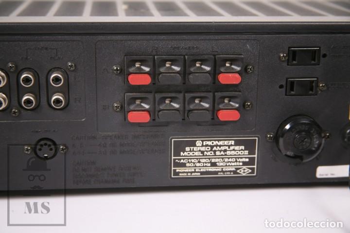 Radios antiguas: Amplificador Pioneer Stereo Amplifier SA-5500 II - Frontal Aluminio - Medidas 38 x 26 x 12,5 cm - Foto 9 - 235635905