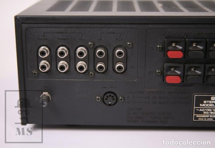 Radios antiguas: Amplificador Pioneer Stereo Amplifier SA-5500 II - Frontal Aluminio - Medidas 38 x 26 x 12,5 cm - Foto 10 - 235635905