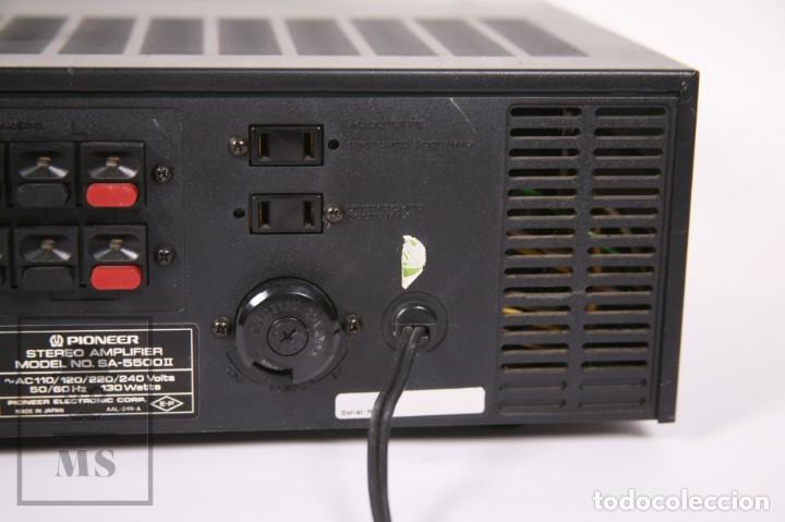 Radios antiguas: Amplificador Pioneer Stereo Amplifier SA-5500 II - Frontal Aluminio - Medidas 38 x 26 x 12,5 cm - Foto 11 - 235635905
