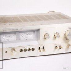Radios antiguas: AMPLIFICADOR INTEGRADO JVC JA-S22 / STEREO INTEGRATED AMPLIFIER - FRONTAL ALUMINIO - AÑOS 70. Lote 235638395