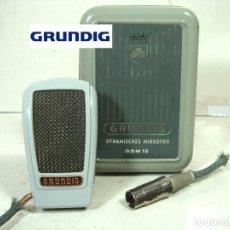 Radios antiguas: MICROFONO GRUNDING GDM15 - W.GERMANY AÑOS 50 + CAJA METALICA - GDM 15 DINAMICO GRABADORA SOBREMESA. Lote 240175835