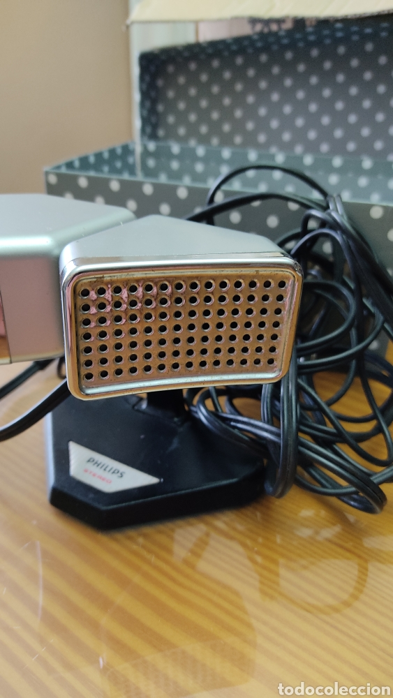 Radios antiguas: Antiguo microfono stereo PHILIPS N8402 - Foto 2 - 243993870