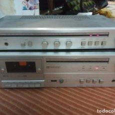 Radios antiguas: LOTE DOS APARATOS LENCO -AMPLIFICADOR -CASETE SINTONIZADOR. Lote 245286805
