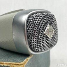 Radios Anciennes: ANTIGUO MICRÓFONO TELEFUNKEN MD 21 - SENNHEISER ELECTRONIC- W. GERMANY CON SU CAJA VINTAGE AÑOS 60. Lote 246987030