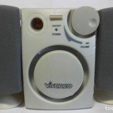 Radios Anciennes: PAREJA DE ALTAVOCES CON AMPLIFICADOR / MARCA VIVANCO / REF. PRO 2,1 LS - RDC,ME 17136 / FUNCI. Lote 247683330