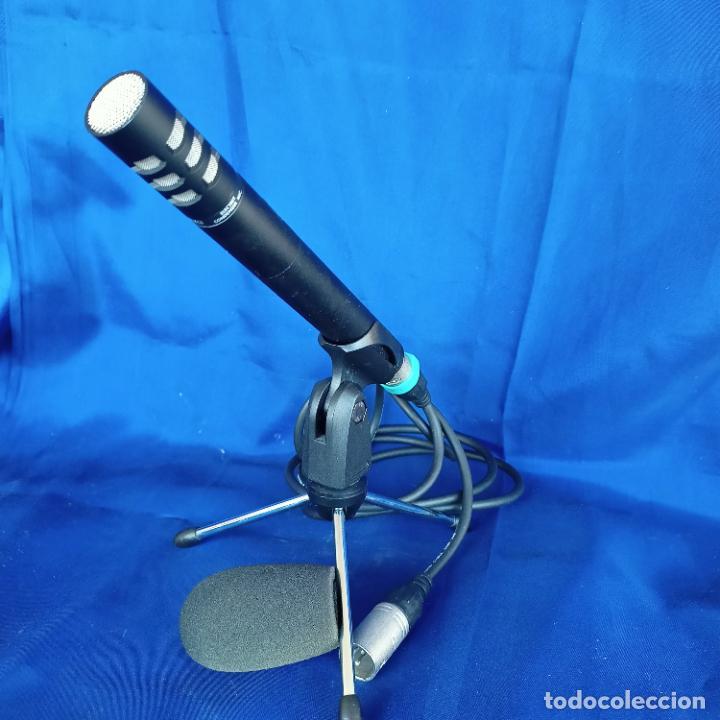Radios antiguas: Micrófono condensador fonestar FCM 440 con trípode y espuma - Foto 2 - 248704060