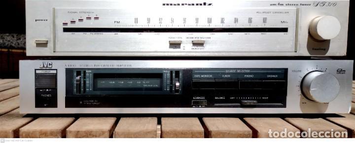 AMPLIFICADOR JVC + RADIO MARANTZ (Radios, Gramófonos, Grabadoras y Otros - Amplificadores y Micrófonos de Válvulas)