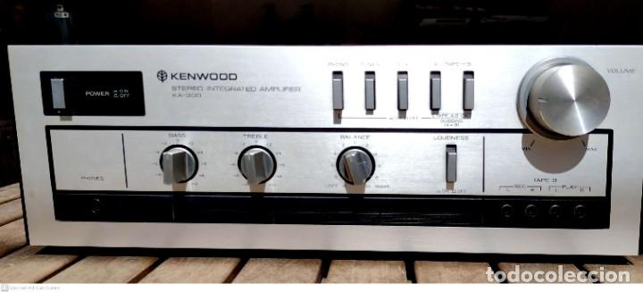 Radios antiguas: Amplificador KENWOOD (garantía) + Cassette deck (pletina) KENWOOD - Foto 2 - 251168725