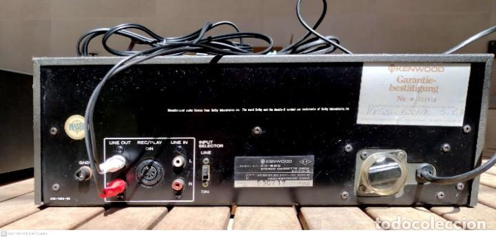Radios antiguas: Amplificador KENWOOD (garantía) + Cassette deck (pletina) KENWOOD - Foto 5 - 251168725
