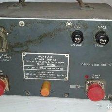Radios antiguas: FUENTE DE ALIMENTACIÓN MILITAR AIRCRAFT RADIO 90780-2 RADIO TEST SET NM-20B POWER SUPPLY.. Lote 251346400