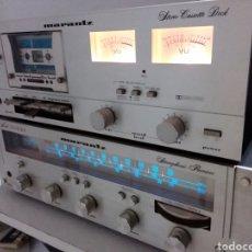 Radios antiguas: AMPLIFICADOR MARANTZ 2216 BL, Y CASSET JD 1000..FUNCIONA. Lote 253010075