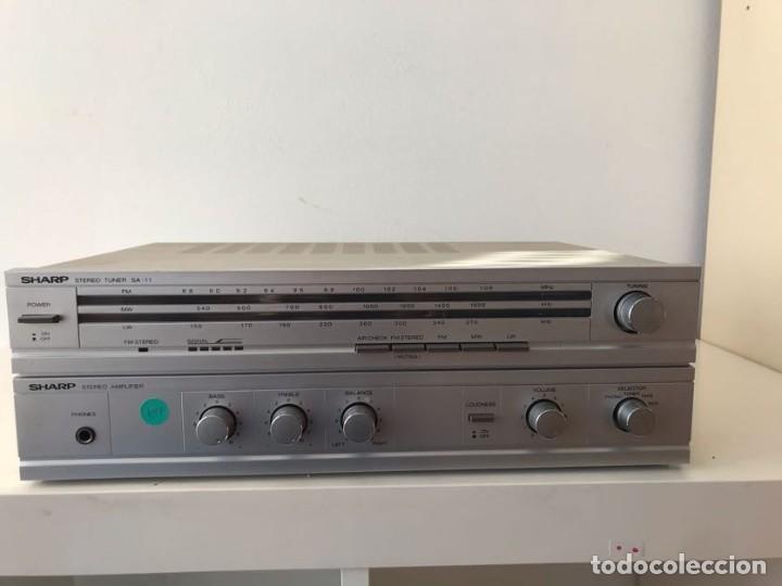 AMPLIFICADOR & RADIO SHARP SA-11 (Radios, Gramófonos, Grabadoras y Otros - Amplificadores y Micrófonos de Válvulas)