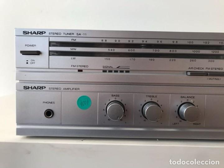 Radios antiguas: AMPLIFICADOR & Radio SHARP SA-11 - Foto 2 - 253127475