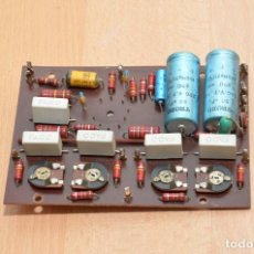 Radios antiguas: PLACA DE ETAPA DE POTENCIA MONO A VALVULAS EL34 ECC81. Lote 253270045