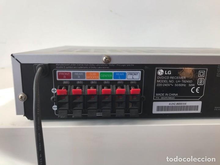 Radios antiguas: Leitor de DVD e CD / Surround LG-T6345 com amplificação - Foto 5 - 253490275