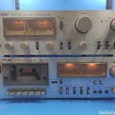 Radios antiguas: PLETINA +AMPLIFICADOR TEAC BX-550 CASSETTE CX 350. Lote 256063190